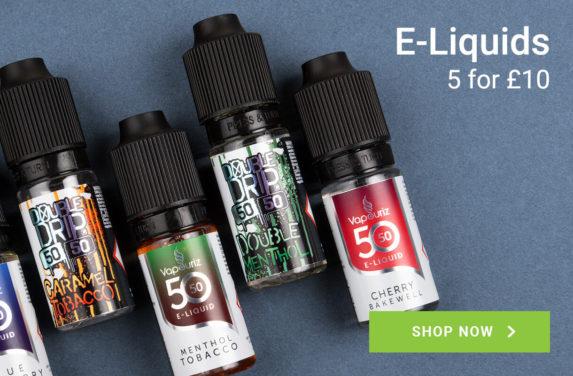 E-Liquids. 5 for £10