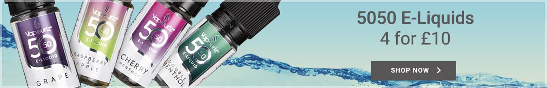 5050 E-Liquids. 4 for £10