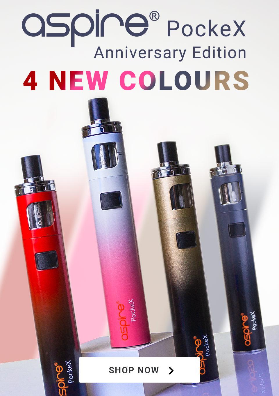 Aspire Pockex Anniversary Edition. 4 new colours