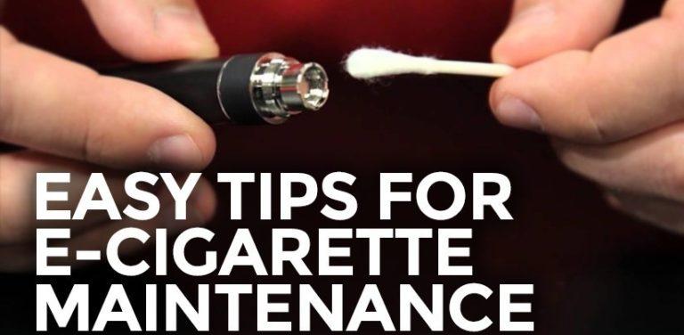 Easy tips for e-cigarette maintenance