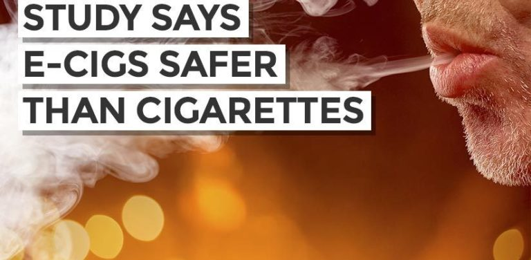 Long term study says e-cigarettes safer than smoking