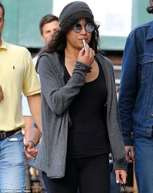 Michelle Rodriguez Vapes on a Sub Ohm E-cigarette